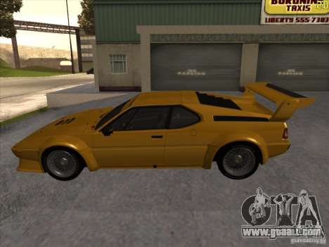 BMW M1 Procar for GTA San Andreas left view