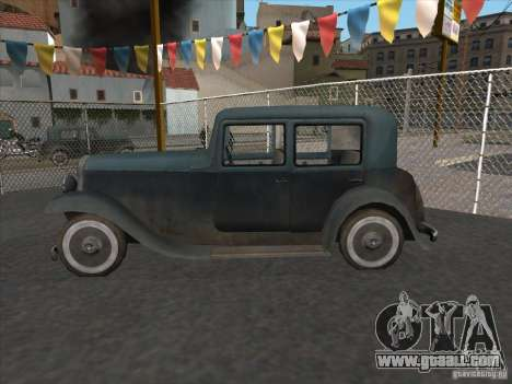 The vehicle of the second world war for GTA San Andreas left view