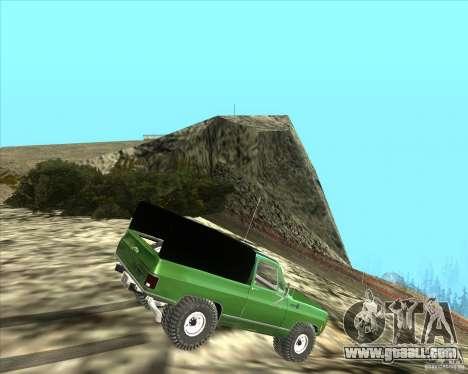 Chevrolet K5 Ute Rock Crawler for GTA San Andreas back left view