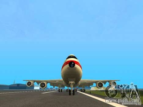 Boeing 747-100 for GTA San Andreas back view