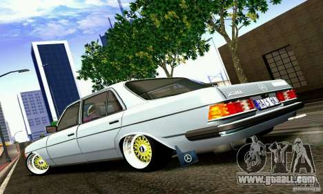 Mercedes Benz W123 for GTA San Andreas left view