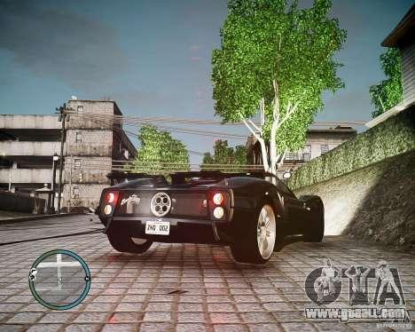 Pagani Zonda C12S Roadster for GTA 4 left view