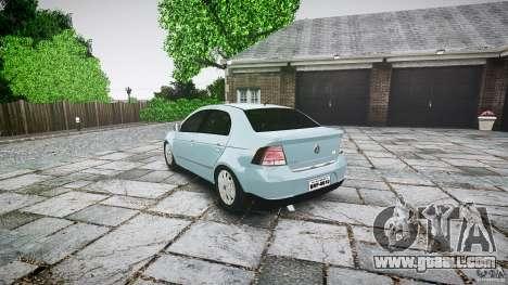 Volkswagen Voyage Comfortline for GTA 4 back left view
