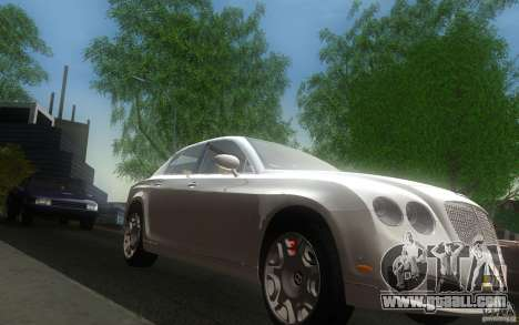 Bentley Continental Flying Spur for GTA San Andreas back view