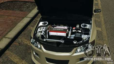 Mitsubishi Lancer Evolution VIII v1.0 for GTA 4 side view
