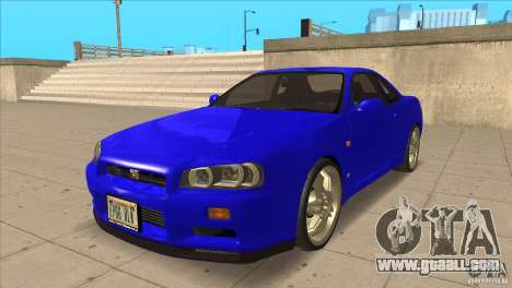 Nissan Skyline R34 FNF4 for GTA San Andreas