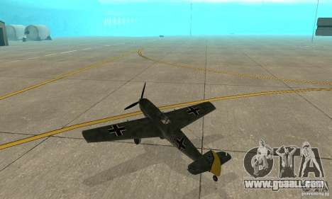 Bf-109 for GTA San Andreas right view