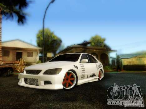 Lexus IS300 Jap style for GTA San Andreas left view
