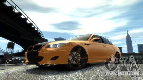 BMW M5 E60 for GTA 4 left view