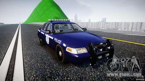 Ford Crown Victoria Homeland Security [ELS] for GTA 4 back view