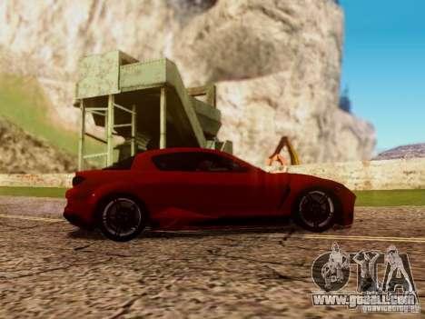Mazda RX8 Reventon for GTA San Andreas inner view