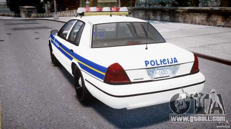 Ford Crown Victoria Croatian Police Unit for GTA 4 right view