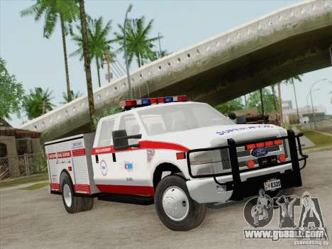 Ford F-350 AMR Supervisor for GTA San Andreas left view