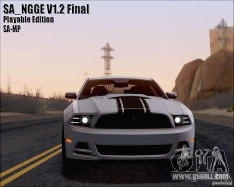 SA_NGGE ENBSeries v1.2 Playable Version for GTA San Andreas