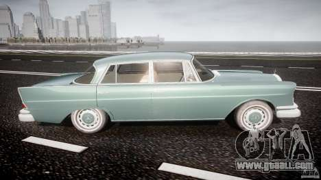 Mercedes-Benz W111 v1.0 for GTA 4 side view