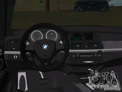 BMW X6M for GTA Vice City upper view