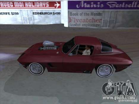 Chevrolet Corvette Big Muscle for GTA San Andreas left view