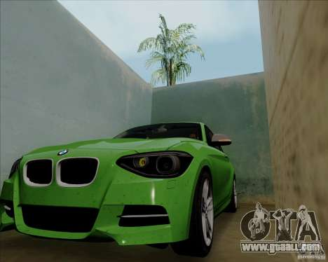 BMW M135i V1.0 2013 for GTA San Andreas back view