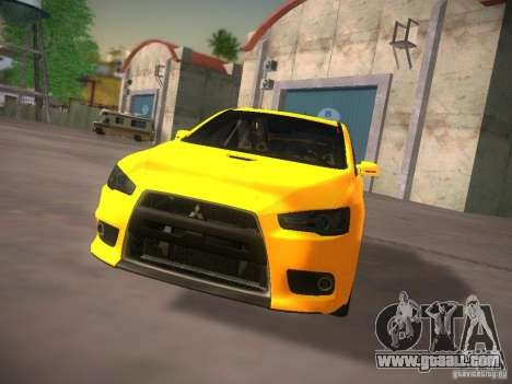 Mitsubishi Lancer Evo X Tunable for GTA San Andreas