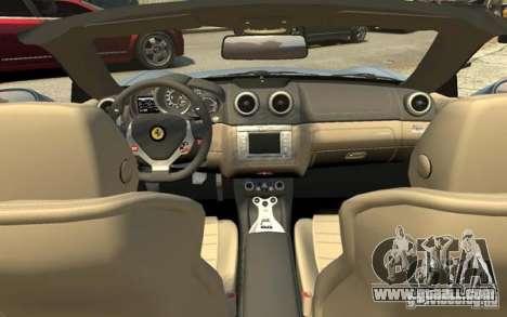 Ferrari California for GTA 4 upper view