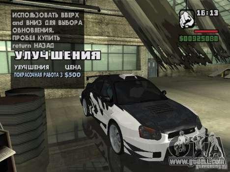 Subaru Impreza Wrx Sti 2002 for GTA San Andreas back left view