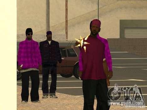 New skins Ballas for GTA San Andreas third screenshot