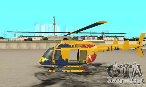 The sightseeing helicopter from gta 4 for GTA San Andreas left view