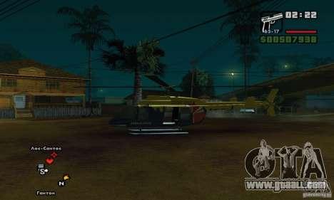 Helitours Maverick from GTA 4 for GTA San Andreas back left view