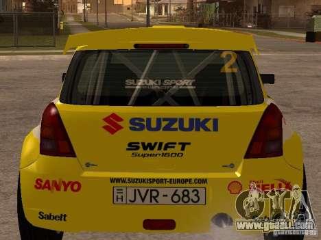 Suzuki Swift Rally for GTA San Andreas back left view