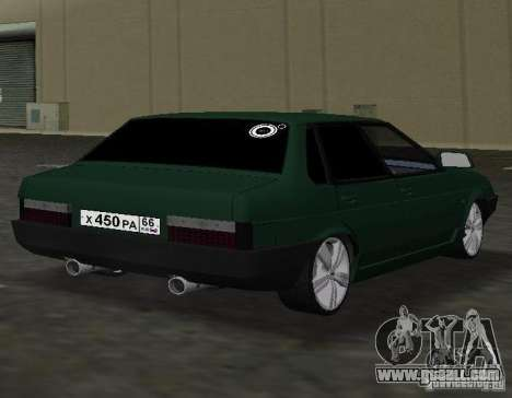 VAZ 2109 Tuning v2.0 for GTA Vice City right view