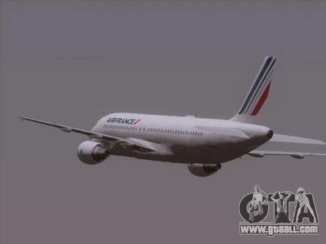 Airbus A320-211 Air France for GTA San Andreas upper view