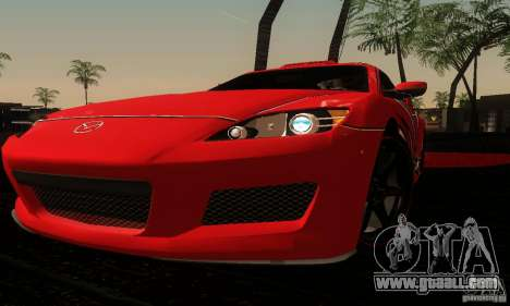 Mazda RX-8 Tuneable for GTA San Andreas side view