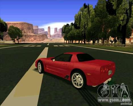 Chevrolet Corvette C5 z06 for GTA San Andreas back left view