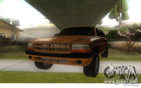 Dodge Durango 1998 for GTA San Andreas back left view