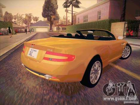 Aston Martin DB9 Volante v.1.0 for GTA San Andreas back view