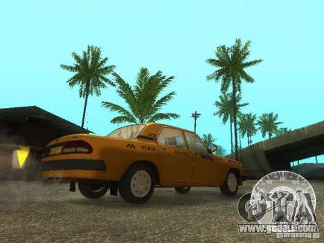 GAZ 3110 Volga taxi for GTA San Andreas inner view