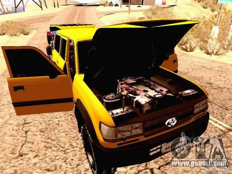 Toyota Land Cruiser 80 Off Road Rims for GTA San Andreas back view