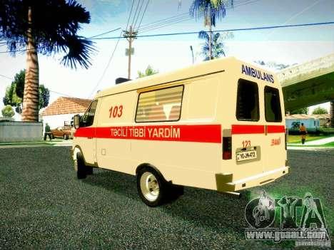 Gazelle 2705 BAKU AMBULANS for GTA San Andreas back left view