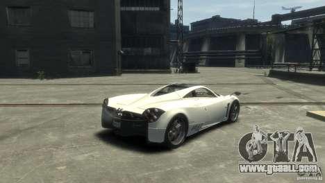 Pagani Huayra for GTA 4 left view