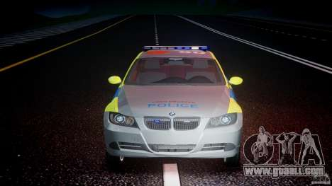 BMW 350i Indonesian Police Car [ELS] for GTA 4 bottom view