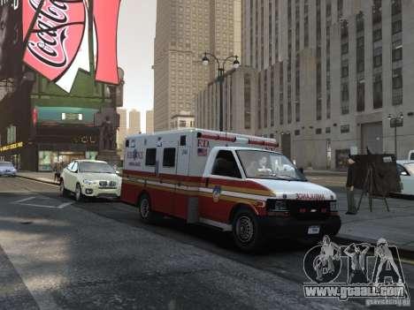 Chevrolet Ambulance FDNY v1.3 for GTA 4 back view