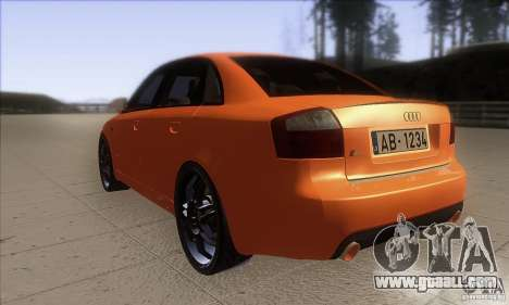 Audi S4 DIM for GTA San Andreas back left view