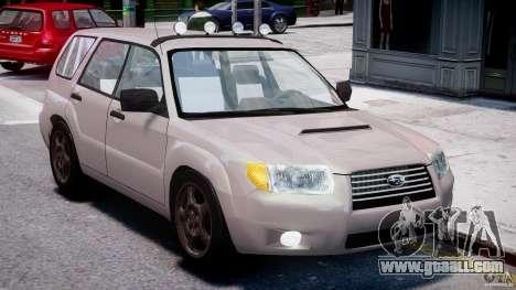 Subaru Forester v2.0 for GTA 4 inner view