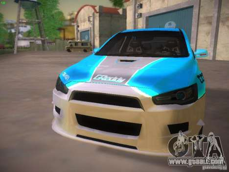 Mitsubishi Lancer Evo X Tunable for GTA San Andreas engine