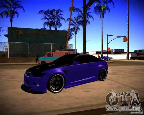 BMW M3 E92 Drift Version for GTA San Andreas back left view