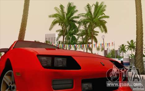 Chevrolet Camaro Z28 Targa Top 1986 for GTA San Andreas back view