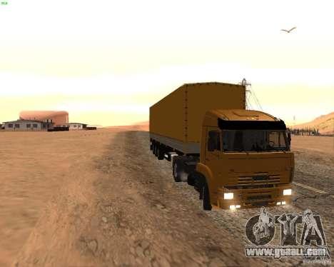 KamAZ 5460 Truckers 2 for GTA San Andreas left view