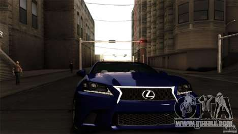 Lexus GS350F Sport 2013 for GTA San Andreas back left view