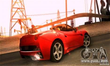Ferrari California V3 for GTA San Andreas left view