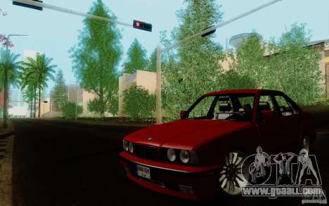 BMW E34 540i Tunable for GTA San Andreas back left view